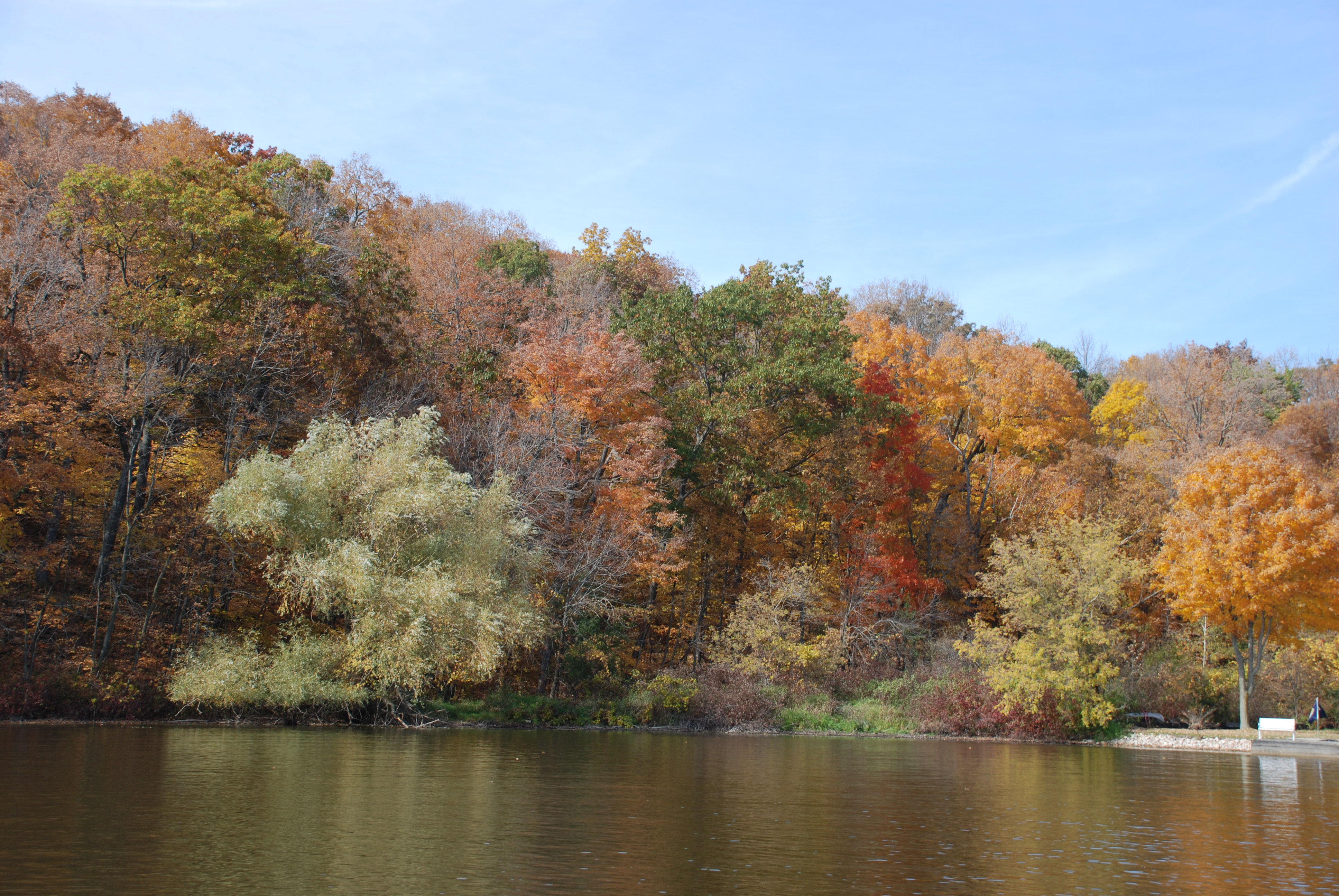 friess lake fall colors